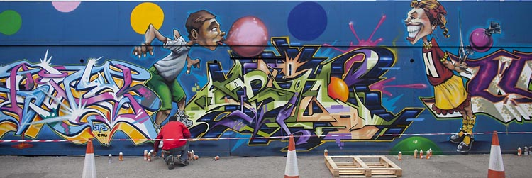 See No Evil, Europe's largest street art exhibition is completed on the streets of Bristol / Adam Gasson / AdamGasson.com