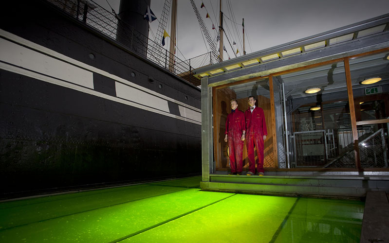 World's largest jelly art installation around the ss Great Britain by Adam Gasson
