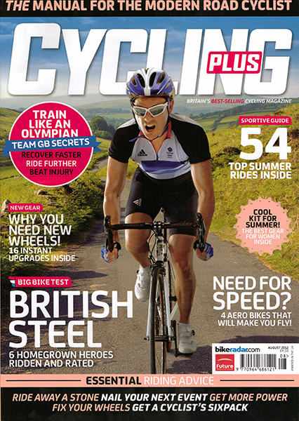 Cycling Plus August cover by Adam Gasson