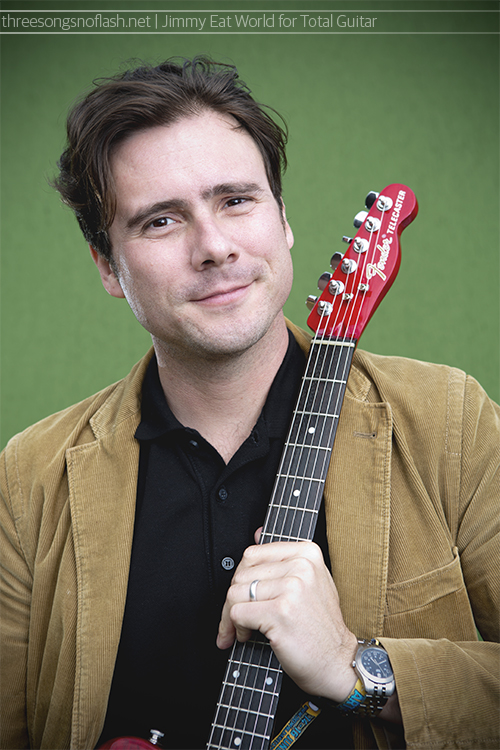 Jimmy Eat World, photographed backstage at Download Festival for Total Guitar.