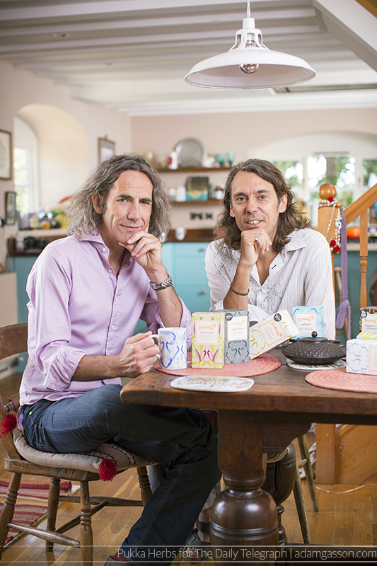 Pukka Herbs co-founders Tim Westwell and Sebastian Pole. Photo by Adam Gasson / adamgasson.com