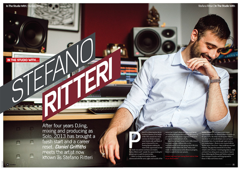 Stefano Ritteri photographed for Future Music. Photo by Adam Gasson.