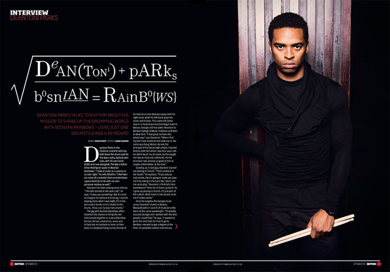 Deantoni Parks photographed for Rhythm by Adam Gasson.