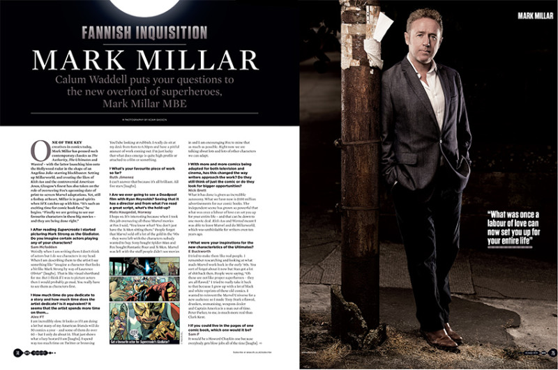 Mark Millar photographed for SFX by Adam Gasson.