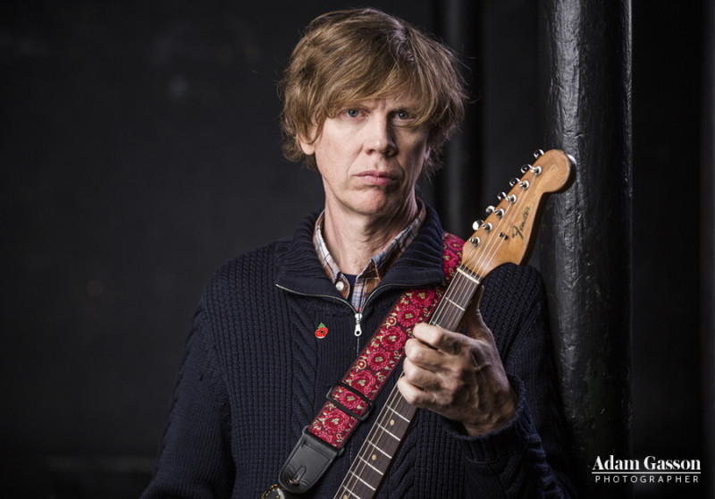 Thurston Moore photographed at the Fleece, Bristol. Photo by Adam Gasson / adamgasson.com