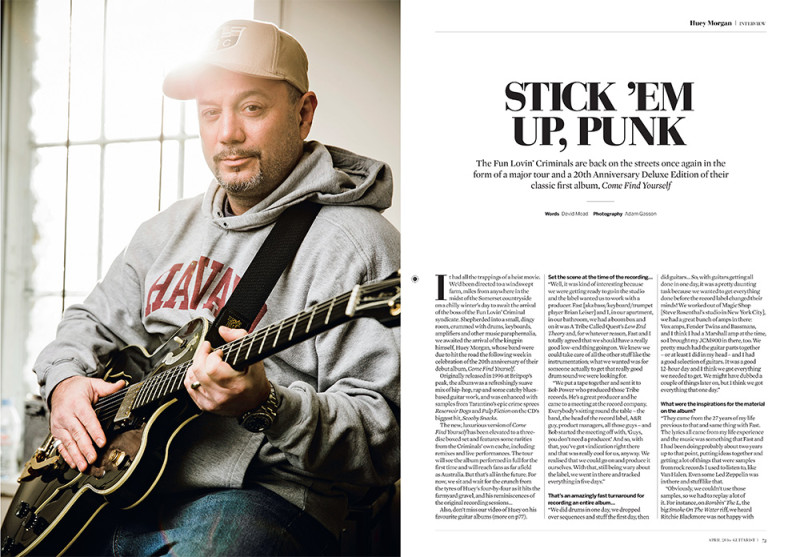 Huey Morgan photographed for Guitarist magazine by Adam Gasson / Guitarist