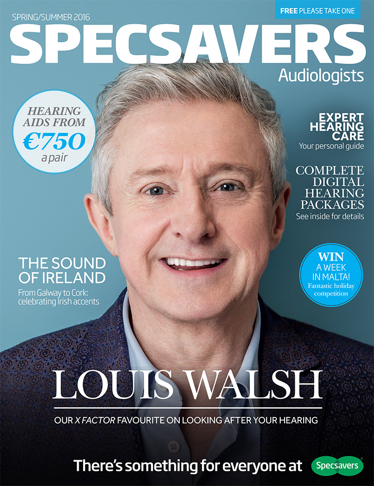 Louis Walsh photographed for Specsavers by Adam Gasson / adamgasson.com