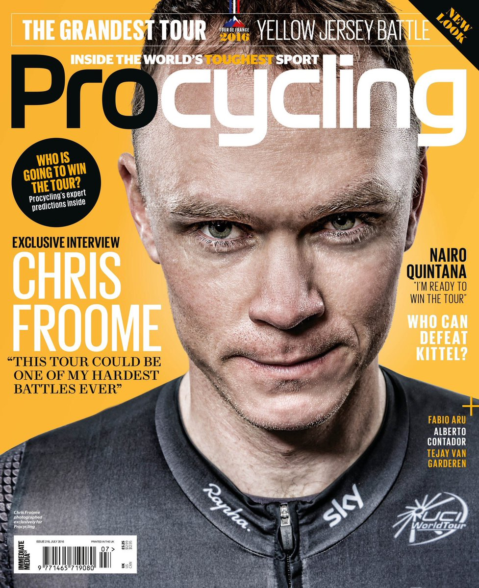 Chris Froome, photographed for Pro Cycling by Adam Gasson / adamgasson.com