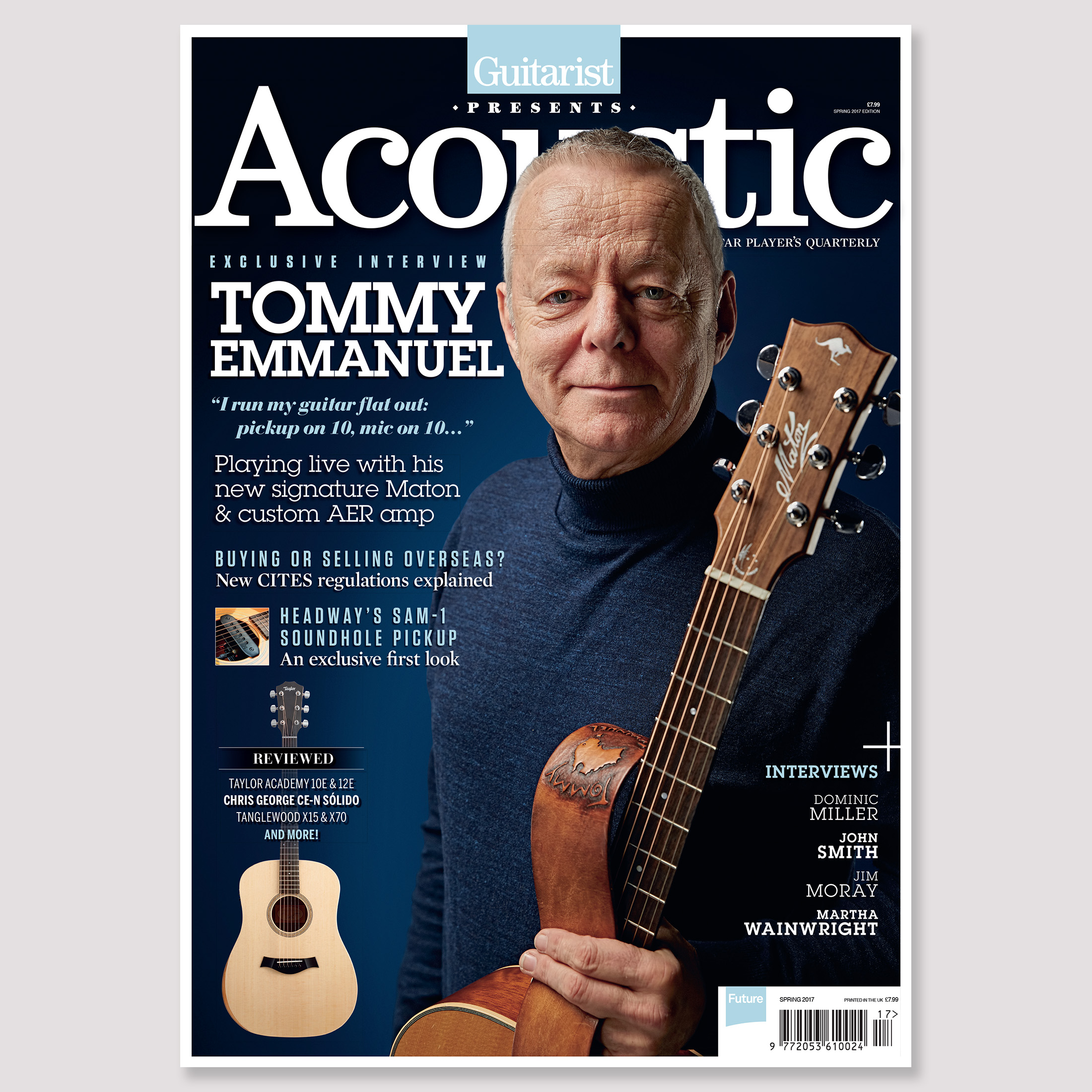 Tommy Emmanuel. Photo by Adam Gasson / Guitarist Presents Acoustic