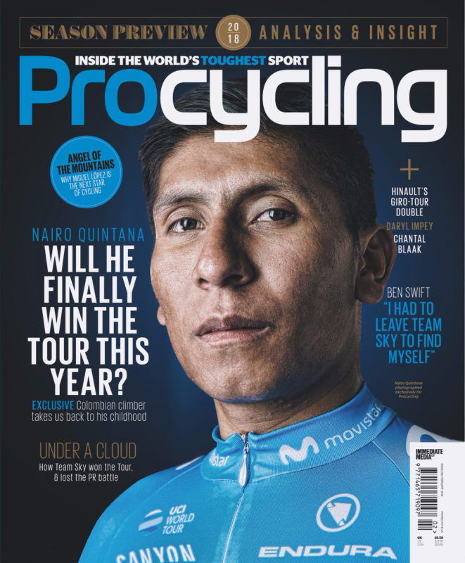 Nairo Quintana photographed for Pro Cycling by Adam Gasson / adamgasson.com