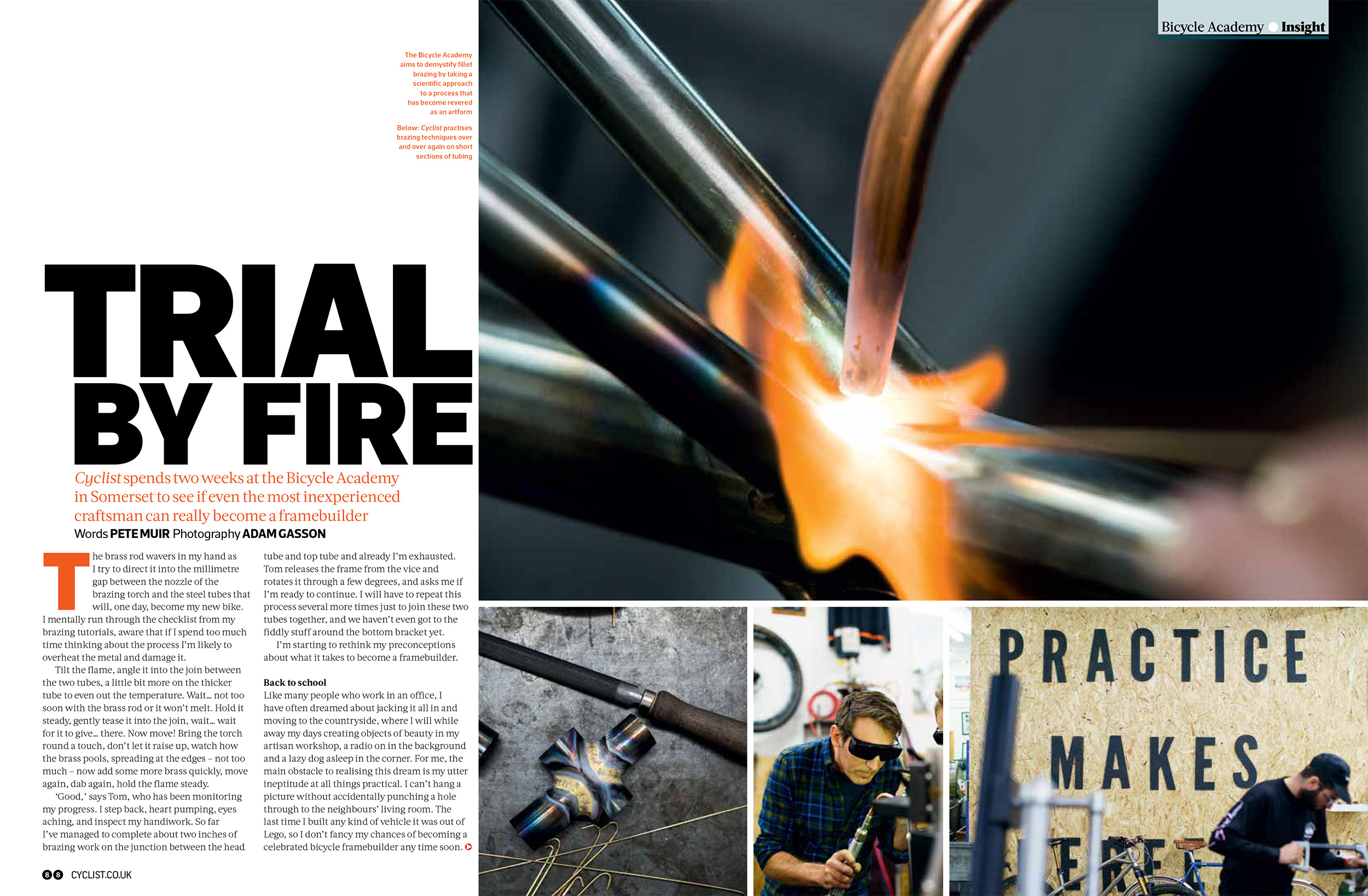 The Bicycle Academy featured in Cyclist. Photo by Adam Gasson / adamgasson.com
