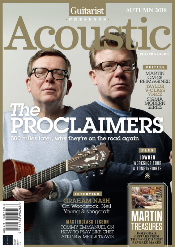 The Proclaimers photographed for the cover of Guitarist Presents Acoustic by Adam Gasson / adamgasson.com
