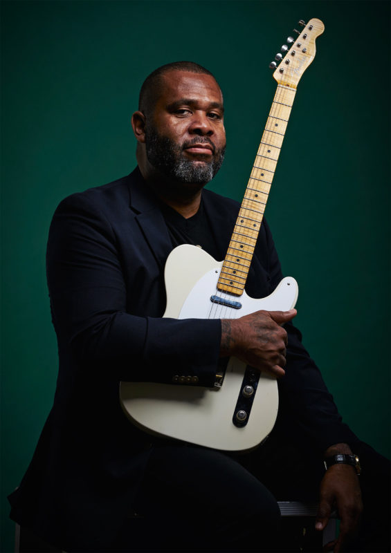 Kirk Fletcher photographed for Guitarist by Adam Gasson / adamgasson.com