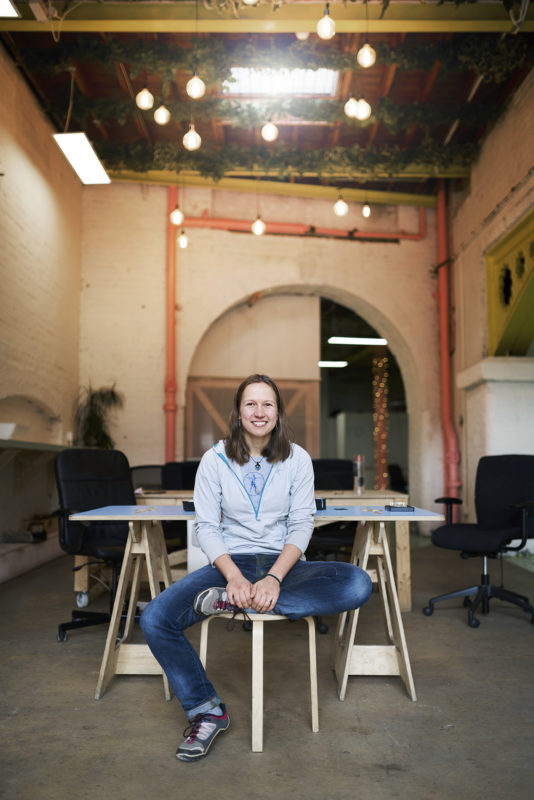 Women In Innovation winner Alex Haslehurst, founder of Vitrue Health, photographed at their offices in the Camden Collective in London, 10 February 2019. Photo by Bristol photographer Adam Gasson / adamgasson.com