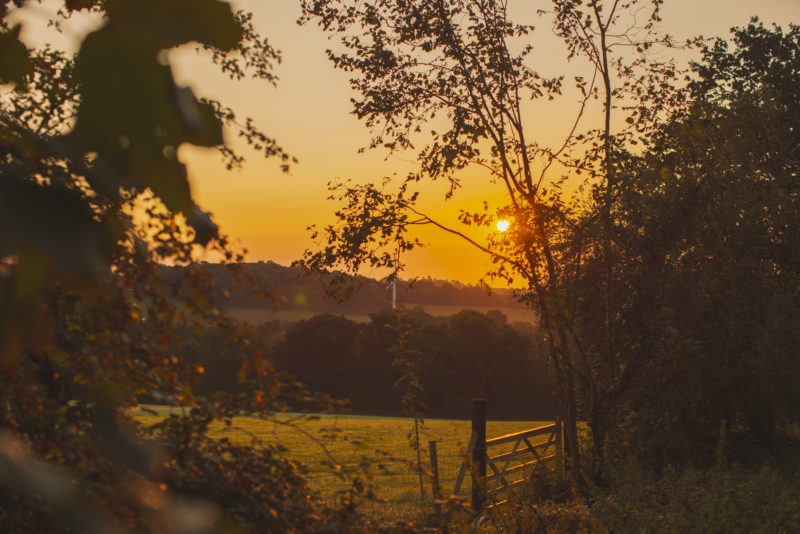 Sunrise at Penhein Glamping in Wales