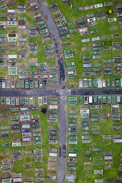 Bristol aerial photograph of a graveyard by Adam Gasson