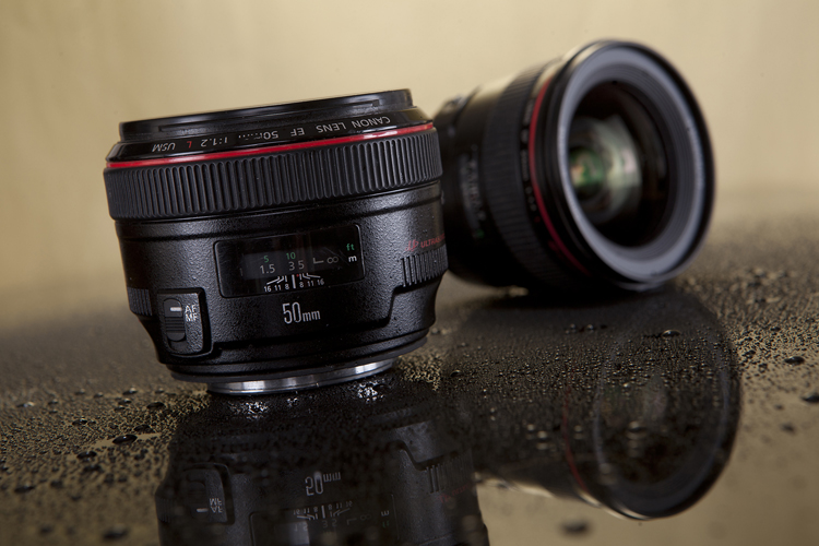 Canon 50mm f/1.2 lens studio photo by Adam Gasson