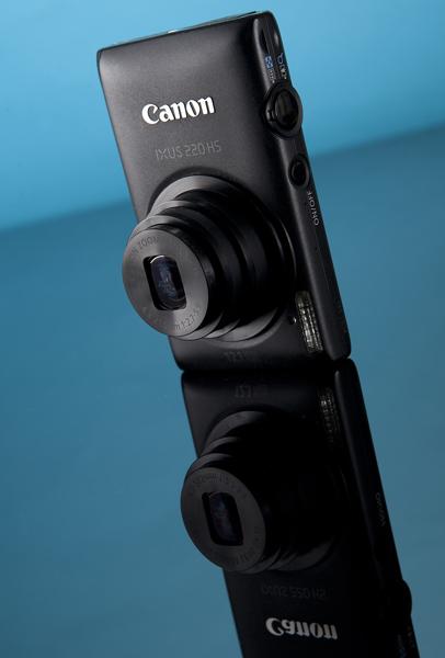 Canon IXUS 220 HS camera studio photo by Adam Gasson