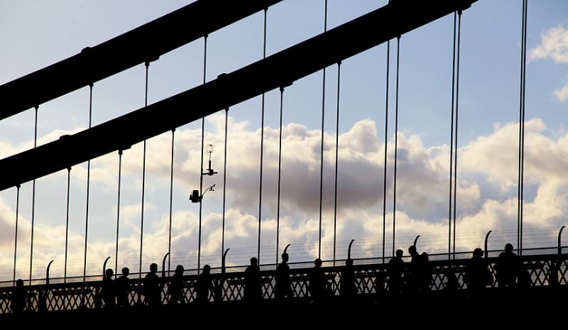 Suspension Bridge silhouette by Adam Gasson