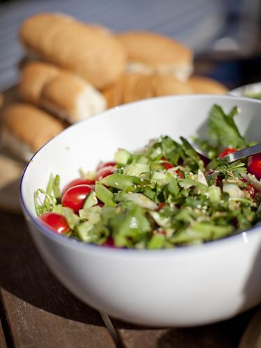 BBQ salad by Adam Gasson.