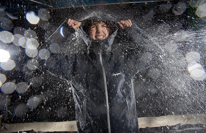 BBC Focus outdoor waterproof jacket testing feature.