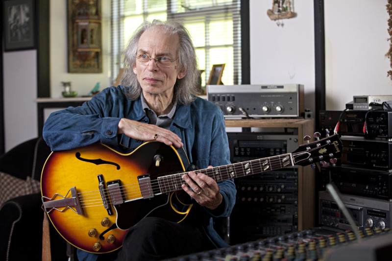 Steve Howe at his home studio by Adam Gasson for Guitarist.