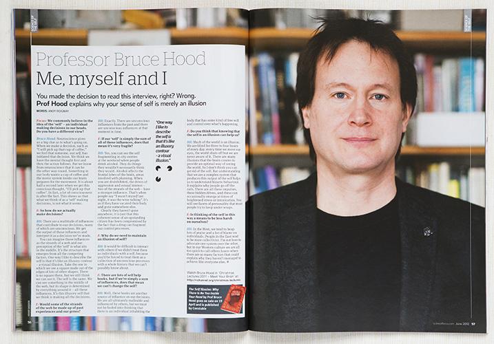 BBC Focus Bruce Hood cutting by Adam Gasson / adamgasson.com