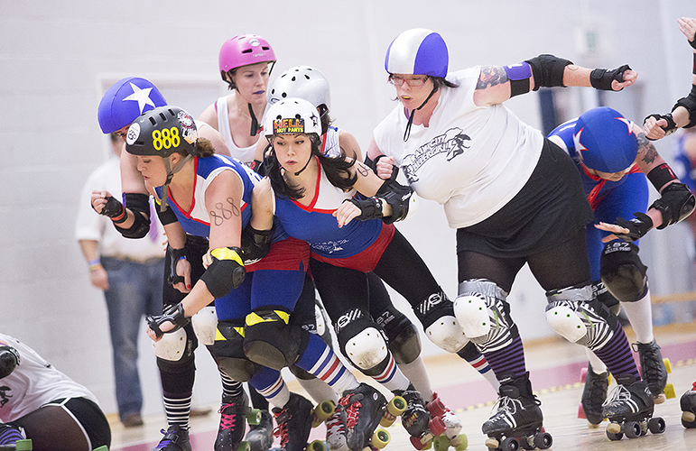 The Harbour Harlots A take on Rainy City Roller Girls at WISE Campus, Filton