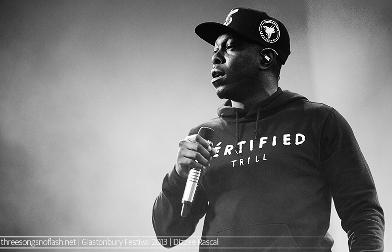Dizzee Rascal Glastonbury Festival 2013 - Photo by Adam Gasson / threesongsnoflash.net