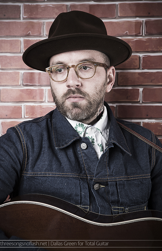 Dallas Green of City and Colour photographed for Total Guitar by Adam Gasson / threesongsnoflash.net