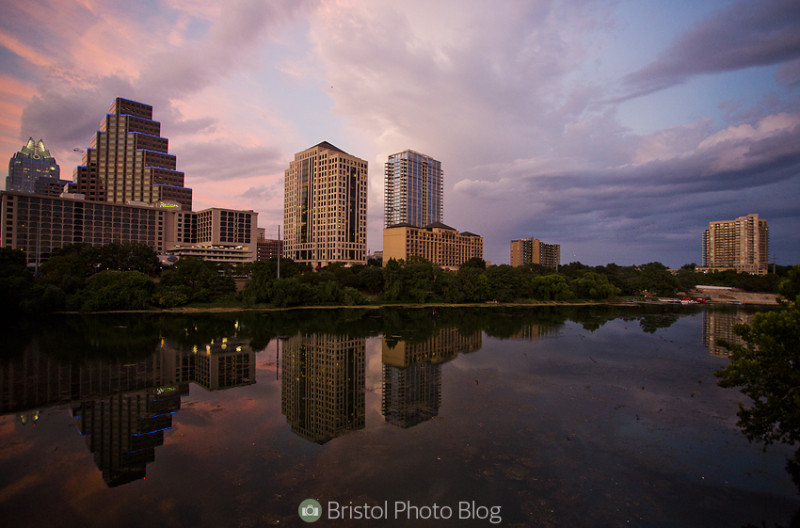 Downtown Austin sunset. Photo by Adam Gasson / adamgasson.com