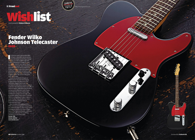 Fender Wilko Johnson Telecaster. Photo by Adam Gasson for Guitarist.