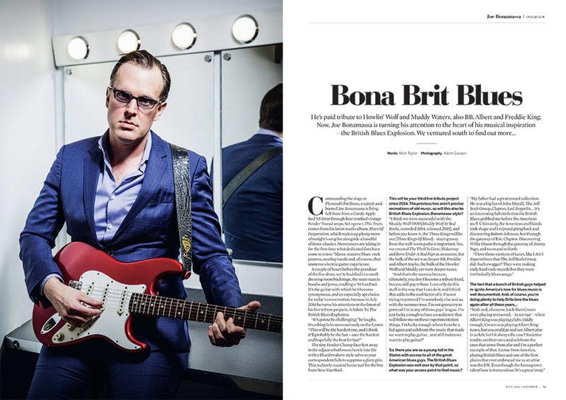 Joe Bonamassa photographed for Guitarist by Adam Gasson / adamgasson.com