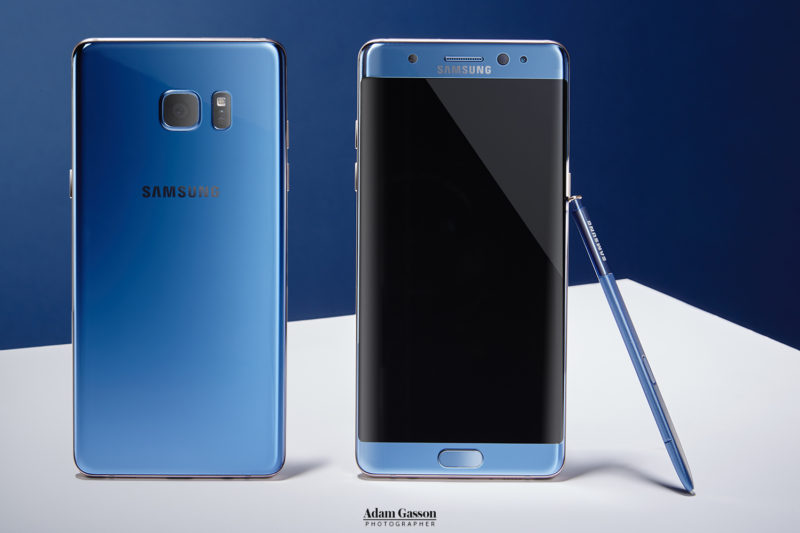 Samsung Galaxy Note 7 photographed for T3. Photo by Adam Gasson.