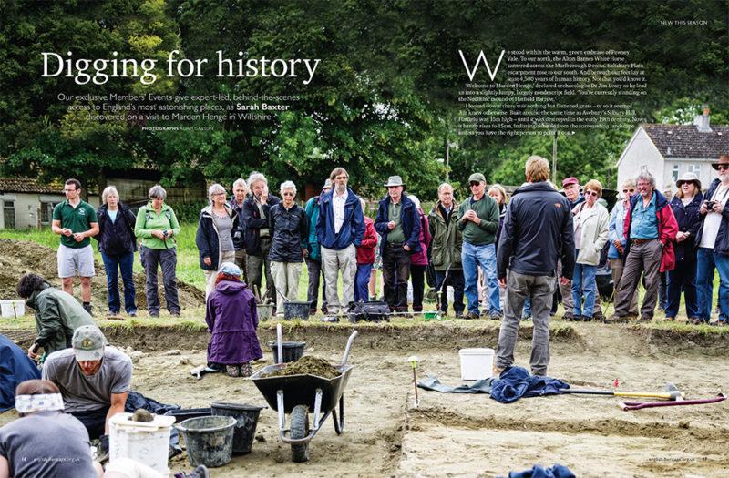 English Heritage magazine feature on Marden Henge, Wiltshire. Photo by Adam Gasson / adamgasson.com