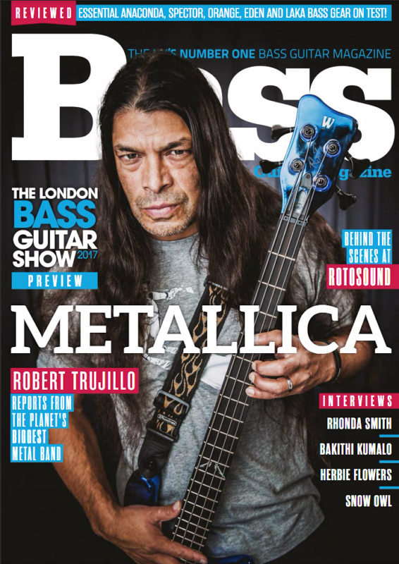 Metallica's Rob Trujillo photographed for Bass Guitar Magazine by Adam Gasson / adamgasson.com