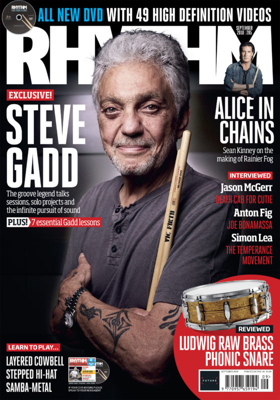 Steve Gadd photographed in London for the cover of Rhythm issue 285 by Adam Gasson / adamgasson.com