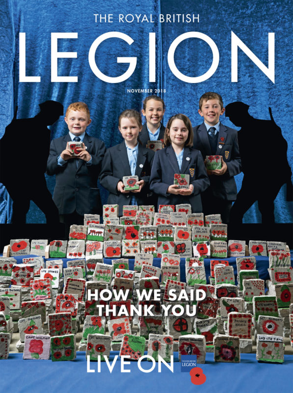 Royal British Legion cover November 2018 - photo by Adam Gasson / adamgasson.com