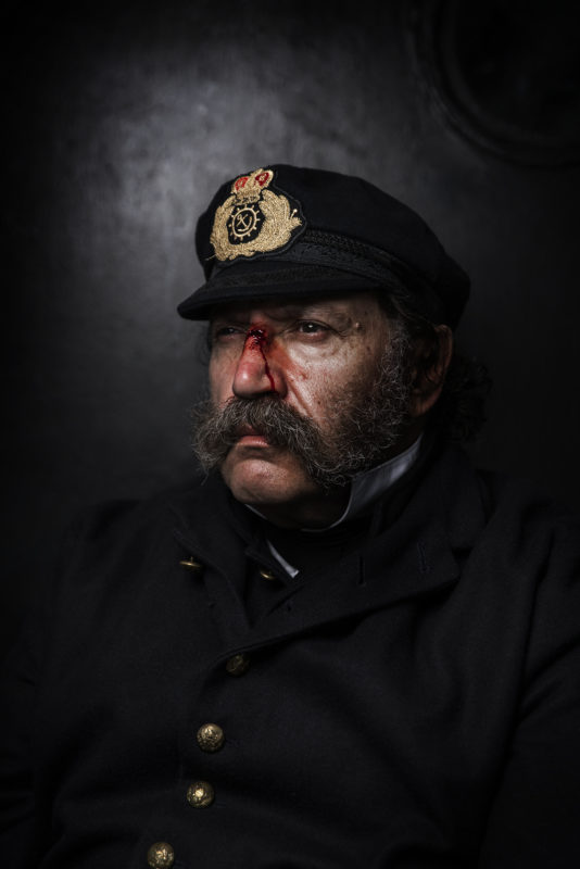 ss Great Britain's gruesome makeup, 10 September 2018. Photo by Bristol photographer Adam Gasson / adamgasson.com