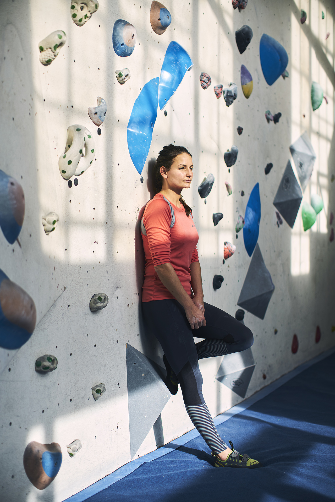 Women In Innovation winner Agnes Czako, founder of AirEx, photographed at the Arch Climbing Wall, London, 12 February 2019. Photo by Bristol photographer Adam Gasson / adamgasson.com