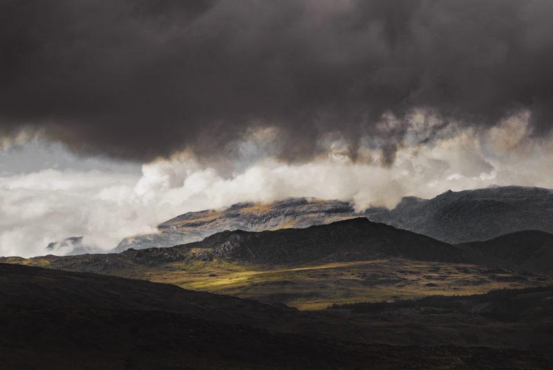 Moody landscape photo taken in Snowdonia