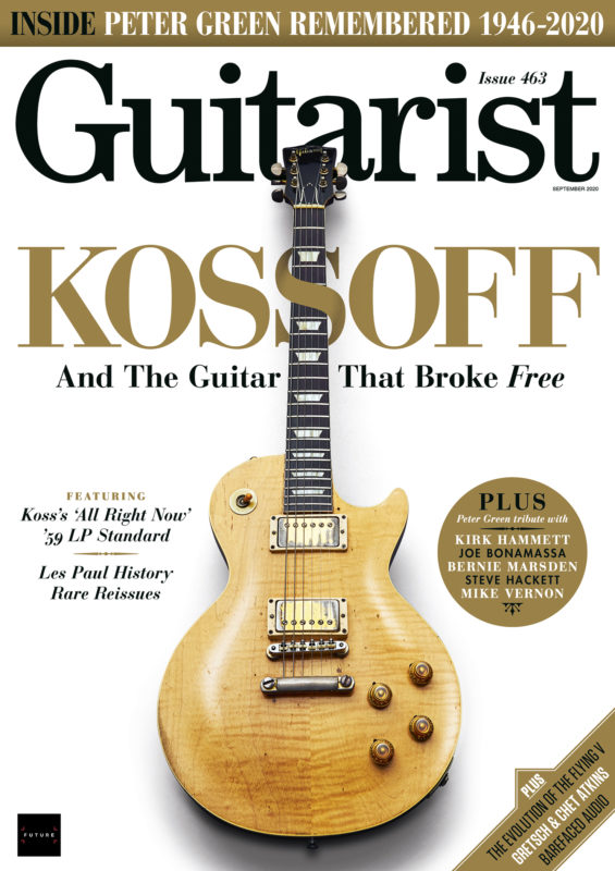 Kossoff Les Paul Guitarist cover photograph by Adam Gasson